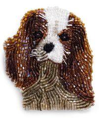 Mignonne Gavigan - Beaded Dog Brooch – King Charles Spaniel - Lyst