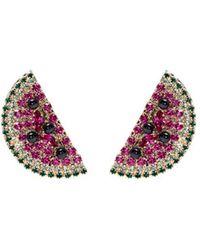 Anton Heunis - Swarovski Crystal Watermelon Slice Earrings - Lyst