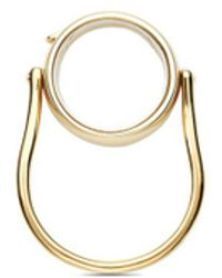 Loquet London - 14k Yellow Gold Round Locket Ring - Medium 15mm - Lyst