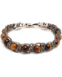Emanuele Bicocchi - Bead Chain Silver Bracelet - Lyst