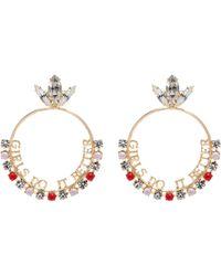 Anton Heunis - Detachable Swarovski Crystal Slogan Hoop Earrings - Lyst