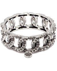 Philippe Audibert - 'princess' Swarovski Crystal Chain Effect Elastic Bracelet - Lyst