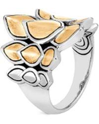 John Hardy - 'legends Naga' 18k Yellow Gold Silver Small Saddle Ring - Lyst