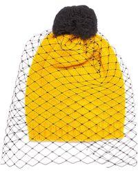 Bernstock Speirs - Pompom Veil Knit Beanie - Lyst