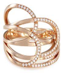 Repossi | 'la Ligne C' Diamond 18k Rose Gold Ring | Lyst