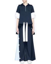 Xiao Li - Drawstring Poplin Cuff Pleated Back Oversized Hoodie - Lyst
