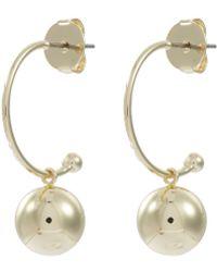 Kenneth Jay Lane - Ball Drop Hoop Earrings - Lyst
