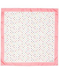 Valentino | 'rainbow Dots' Print Silk Twill Scarf | Lyst