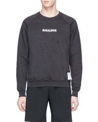 Satisfy | 'roadie Moth Eaten' Slogan Print Sweatshirt | Lyst
