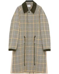 Tomorrowland - Twill Panel Houndstooth Check Coat - Lyst