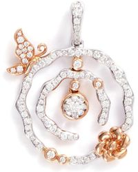 LC COLLECTION - 'lucky Charm' Diamond 18k Gold Pendant - Lyst