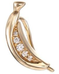 Sophie Bille Brahe - 'banane Croissant' Diamond 14k Yellow Gold Single Earring - Lyst