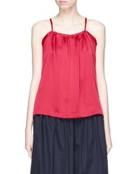 Y-3 - Drape Back Satin Camisole Top - Lyst