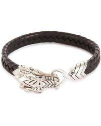 John Hardy - 'legends Naga' Sapphire Silver Leather Bracelet - Lyst