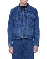 Y. Project - Detachable Shirt Unisex Denim Jacket - Lyst