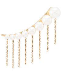 Sophie Bille Brahe - X Sacai 001 Short Chain Fringe Pearl Single Creeper Earring - Lyst