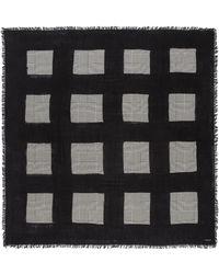 Faliero Sarti - 'magda' Houndstooth Check Plaid Silk-virgin Wool Scarf - Lyst