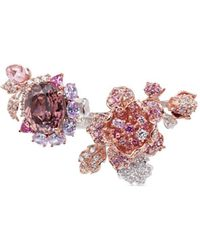 Anabela Chan | 'delphinium' Diamond Gemstone 18k Gold Floral Open Ring | Lyst