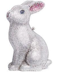Judith Leiber - 'bunny Ava' Crystal Pavé Minaudière - Lyst
