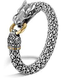 John Hardy - 'legends Naga' 18k Yellow Gold Silver Bracelet - Lyst