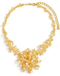 Kenneth Jay Lane - Glass Crystal Glass Pearl Branch Necklace - Lyst