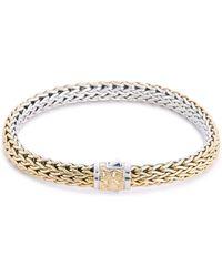 John Hardy - 'classic Chain' Silver Yellow Gold Reversible Bracelet - Lyst
