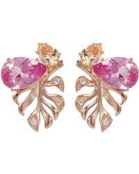 Anabela Chan - 'palm' Diamond Gemstone Stud Earrings - Lyst