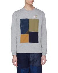 FDMTL - Hummingbird Embroidered Patchwork Appliqué Long Sleeve T-shirt - Lyst