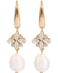 Anton Heunis - Swarovski Crystal Baroque Pearl Drop Earrings - Lyst