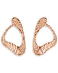 Fernando Jorge - 'stream Lines' 18k Rose Gold Loop Earrings - Lyst