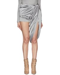 Y. Project - Gathered Drape Panel Pinstripe Shorts - Lyst