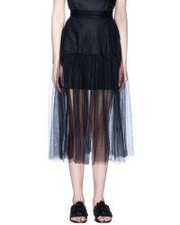 Xiao Li - Mesh Midi Skirt - Lyst