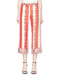 Emilio Pucci - Graphic Stripe Print Silk Twill Culottes - Lyst