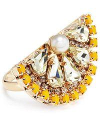 Anton Heunis - Swarovski Crystal Pearl Lemon Slice Ring - Lyst