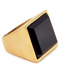 Kenneth Jay Lane - Stone Square Ring - Lyst