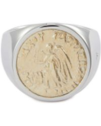 Tom Wood - 'coin Angel' 9k Yellow Gold Silver Signet Ring – Size 60 - Lyst