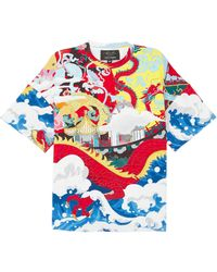 bd934983d13 Lyst - Gucci Long Sleeve Logo Dragon T-shirt In Red in Red for Men