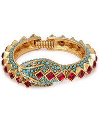 Kenneth Jay Lane | Embellished Snake Bracelet | Lyst