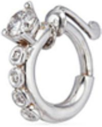Delfina Delettrez - Diamond 18k White Gold Single Nose Ring - Lyst