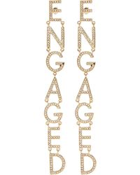 Bijoux De Famille - 'engaged' Strass Drop Earrings - Lyst