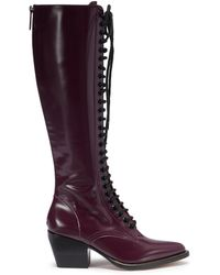 Chloé - 'rylee' Lace-up Knee High Leather Boots - Lyst