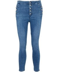 J Brand - 'natasha' Side Button Fly Cropped Skinny Jeans - Lyst