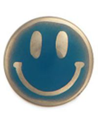 Loquet London - 18k Yellow Gold Enamelled Smiley Face Charm - Lyst