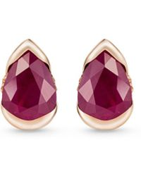 Fernando Jorge - 'bloom' Diamond Ruby 18k Rose Gold Small Stud Earrings - Lyst
