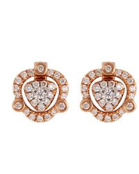LC COLLECTION - Diamond 18k Rose Gold Detachable Drop Earrings - Lyst