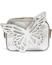 Sophia Webster - Silver Butterfly Leather Cross-body Bag - Lyst