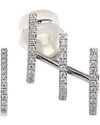 Messika - 'gatsby Multi-hoop' Diamond 18k White Gold Mismatched Earrings - Lyst