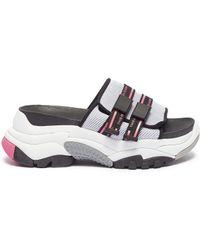 Ash 'ace' Chunky Outsole Logo Band Mesh Slide Sandals - Multicolor