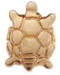 Loquet London   'turtle' 14k Yellow Gold Single Stud Earring – Wisdom   Lyst