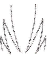 Khai Khai - 'zigzag' Diamond 18k White Gold Earrings - Lyst